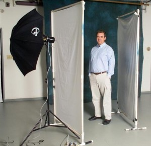 A one light set-up for a portrait