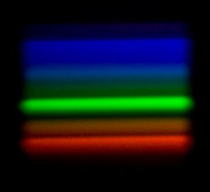 Fluorescent Spectrum, notice how the spectrum is banded rather than continuous