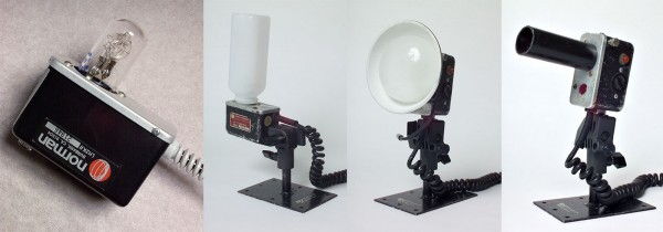 A Norman 200B Head (called an LH2) bare bulb and with some accessories