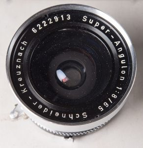65mm f8 Super Angulon for the 4X5