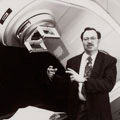 Man with linear accelerator
